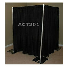 8 FOOT TALL PIPE AND DRAPE PHOTO BOOTH KIT WITH PREMIUM DRAPES - PHOTOBOOTH