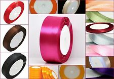 Satin Ribbon 6mm, 12mm and 24mm in Assorted Size and Colours