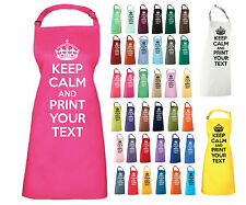 KEEP CALM AND PERSONALISE APRON YOUR TEXT NOVELTY COOKING APRON GIFT CHRISTMAS