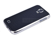 Luxury Samsung Galaxy S4 SIV Cover Carbon Fiber Chrome Hard Cell Phone Case