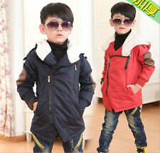 Trendy Toddlers Girls Boys Zipper Hoodies Warm Coat Kids Jacket Snowsuits 2-8Y