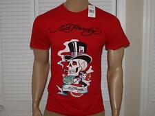 Ed Hardy Magic Skull T Shirt Red NWT