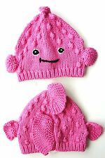 GAP Baby Girls PINK FISH Knitted Lobster Animal Beanie Novelty Hat 0-3m 3-6m
