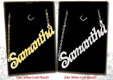 Name Necklace SAMANTHA 18k Gold Plated Personalized Gifts Fashion Jewelry