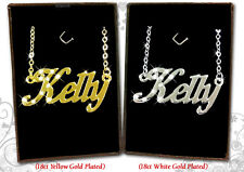 NAME NECKLACE KELLY 18k Gold Plated Personalized Gifts Fashion Jewelry