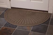 Waterhog Eco Grand Premier Half Oval Indoor/Outdoor Floor and Entryway Mat