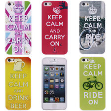 Stamp Imperial Crown Bike Alphabet Image Hard Back Skin Case Cover for iPhone 5