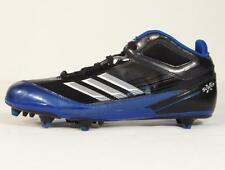 Adidas Scorch X Mid D Football Cleats Black & Blue Mens NWT