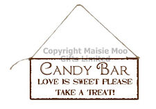 Hanging Candy Bar Cart Wedding Metal Vintage Shabby Chic Style Plaque Sign