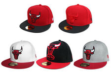 New Era Cap NBA Chicago Bulls 59Fifty fitted Baseball Caps Kappe div. Modelle