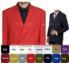 Men's Double Breasted Suit  Solid Color Polyester Style 901P