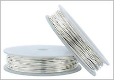 25 FT Fine Silver Round Wire 20-26 Gauge 999 Pure Solid Dead Soft - MADE IN USA