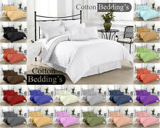 SALE 800-1000-1200TC BRAND NEW 15 COLOR 100% COTTON 3PC DUVET/ QUILT SET STRIPED