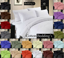 SALE  800-1000-1200TC BRAND NEW 15 COLOR 100% COTTON 3PC DUVET / QUILT SET SOLID