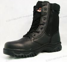"NIB Men's Tactical Boots 8"" Black Combat Military Work Shoes Zipper, Sizes:6-15"
