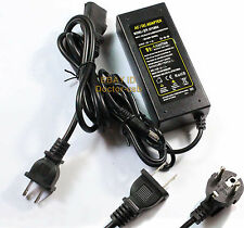 Power Cord USA/EU + DC12V 5A AC100-240V LED Strip 3528 Charger Supply AC Adapter