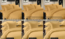 Brand New 1000TC Hotel Gold Color Collection US Bedding Set 100% Egyptian Cotton