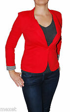 New Fire Juniors Jacket V-Neck Cuffed Sleeve One Button Blazer Colors & Size