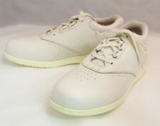 Women's BRITISH WALKERS White Lace Up Leather Comfort Walking Oxford Shoes Sizes