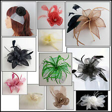 Fascinators with Feather Detail Comb OR Headband Various Designs WEDDING / PROM
