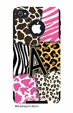 CUSTOM Monogram OtterBox Commuter Phone Case iPhone 4 4S 5 Zebra Leopard Print