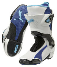PUMA 1000 v3 racing motorcycle boots, white-blue, BRAND NEW, LAST PAIRS IN STOCK