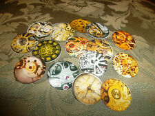 PRE CUT ONE INCH IMAGES INSIDE CLOCKS MECHANISM!  FREE SHIPPING