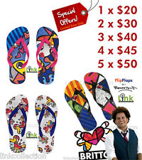 *SPECIAL OFFER* Romero Britto Flip Flops - FREE USA Shipping