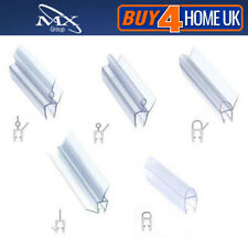 Bath Shower Screen Gap Seal - Silicone Rubber Plastic for Curved & Flat Glass