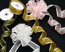 Double Sided Satin Edge Organza/Chiffon Ribbon All sizes and colours