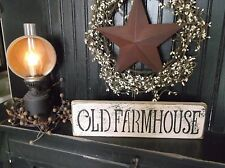 OLD FARMHOUSE Wood Sign Rustic/Primitive Distressed Aged Shelf Sitter Decor Sign
