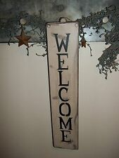 """Wood Sign WELCOME """"Handmade"""" Rustic/Primitive Country Wood Wall Hanging Sign"""