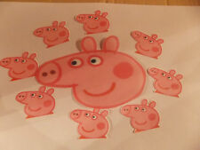 Extra Large precut Peppa Pig Edible cake toppers for cakes/cupcakes