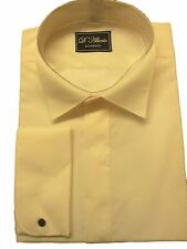 FREE POST X/Long Sleeve Ivory Wing Victorian Collar Dress Shirt 14.5 -19.5 NWT