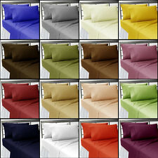 1200TC 4pc Sheet Set Hotel Bedding Collection Brand New 15Color Solid 100%Cotton