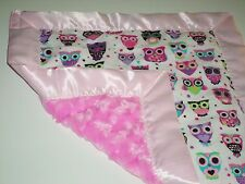 NEW Handmade Baby Security Blanket Flannel Minky Baby Shower Gift  Good Quality!