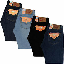 New Levis 501 Men Straight Denim Jeans - Original Fit