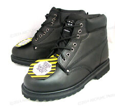 """New Men's Steel Toe Work Boots 6"""" Black Leather Oil Resistant Ankle Shoes, Sizes"""