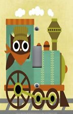 Light Switch Plate Switchplate & Outlet Covers KID'S ROOM OWL TRAIN CONDUCTOR