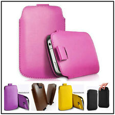 New Leather Pouch Sleeve Skin Pull Tab Bag Case Cover 13 Colors For HTC ONE M7