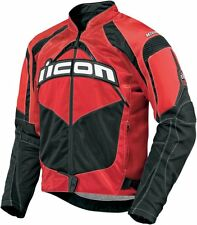 *FAST SHIPPING* ICON Contra (Red) Motorcycle Jacket S M L XL 2XL SPORT FIT