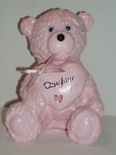 FROST PROOF STONE / CONCRETE BABY PINK TEDDY BEAR BIRTHDAY GRAVE MEMORIAL