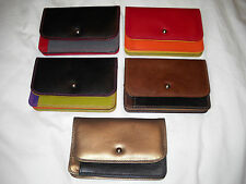 New ILI Leather Travel Credit Card Pouch Wallet - 5 Color Combos - #7871