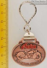 Sturdy key chain with an oval bronze-toned Indian motorcycle shield