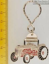 Sturdy key chain with a fancy silver-toned Ford tractor shield
