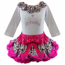 Pettiskirt Tutu 2 Pc Outfit Leopard Rock Star Pageant Princess NWT 1-10/12 Yr