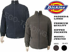 Mens Dickies Padded Fleece Lined Premium Quality Warm Jacket.  RRP £35!!!