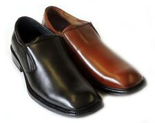 NEW MENS DRESS SHOES LOAFERS SLIPON LEATHER LINED COMFORT FREE SHOE HORN/2Colors