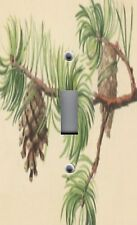Light Switch Plate Outlet Covers NATURE TREES ~ PINE CONES & BOUGHS