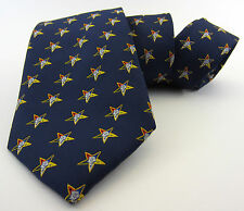 Masonic Tie Order of the Eatern Star OES Freemason Mason Red Black Navy